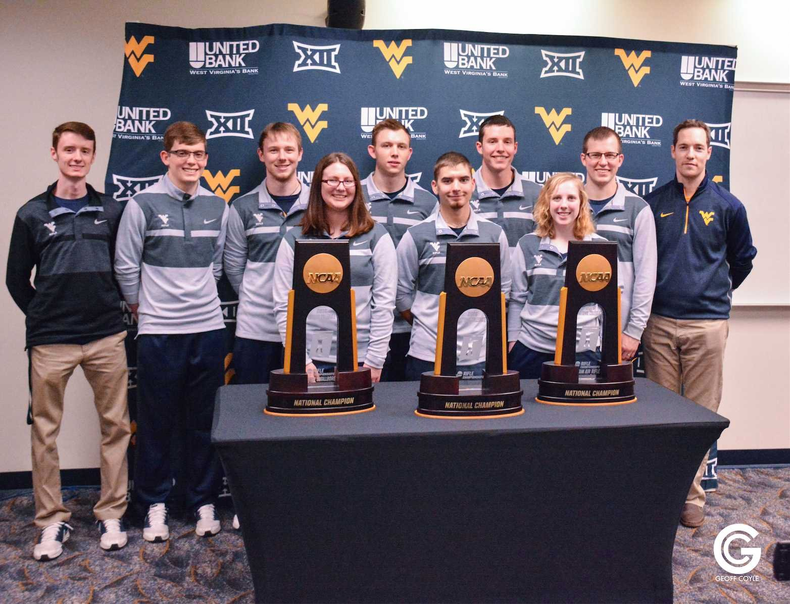 Another year, another national championship for the WVU Rifle team. (PHOTO: Geoff Coyle)
