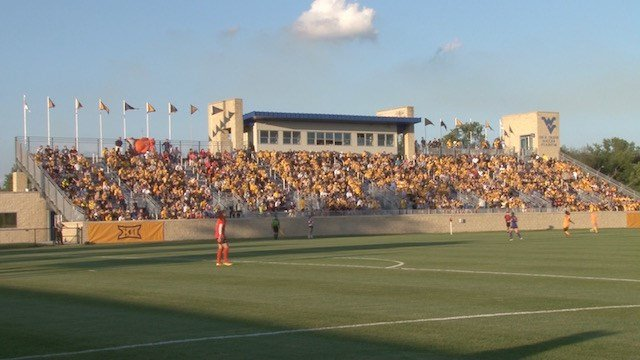 A crowd of 2,019, the 4th best in program history, packed Dick Dlesk to cheer on the women's soccer team Friday night.