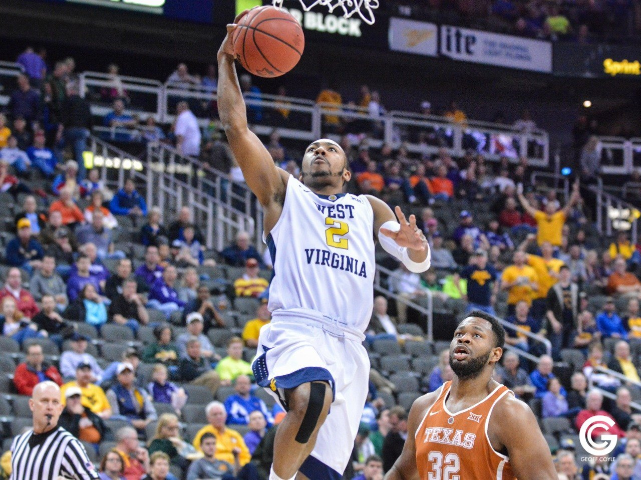 Jevon Carter finishes with 21 points (Jevon Carter finished with 21 points as WVU defeats Texas 63-53 in the quarterfinals. (PHOTO: Geoff Coyle): Geoff Coyle)