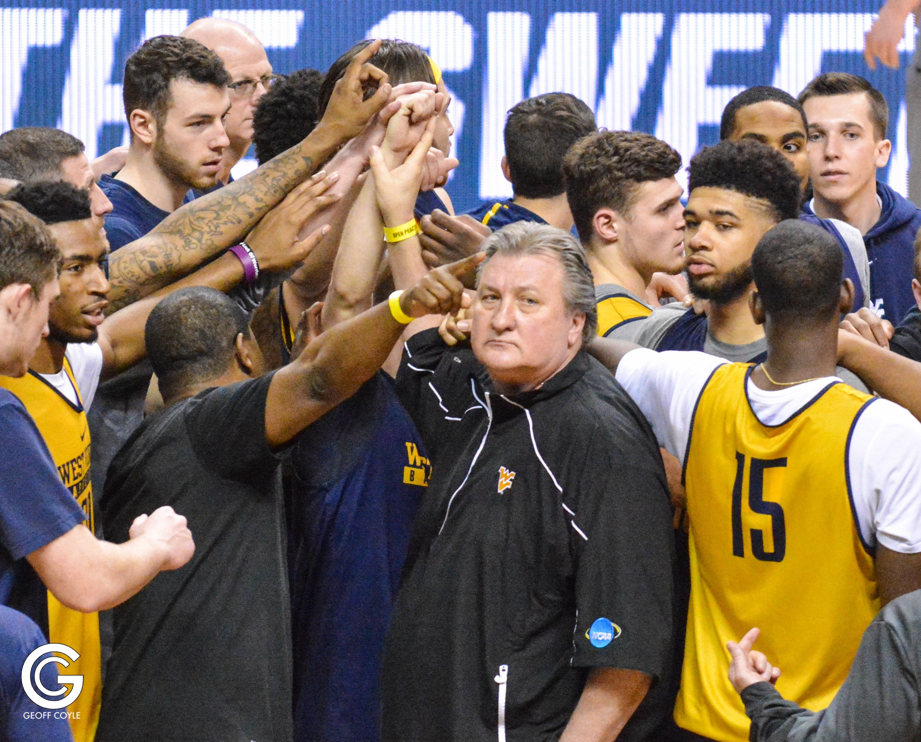West Virginia takes on Gonzaga tonight at 7:39 ET in the Sweet Sixteen in San Jose, CA. (PHOTO: Geoff Coyle)