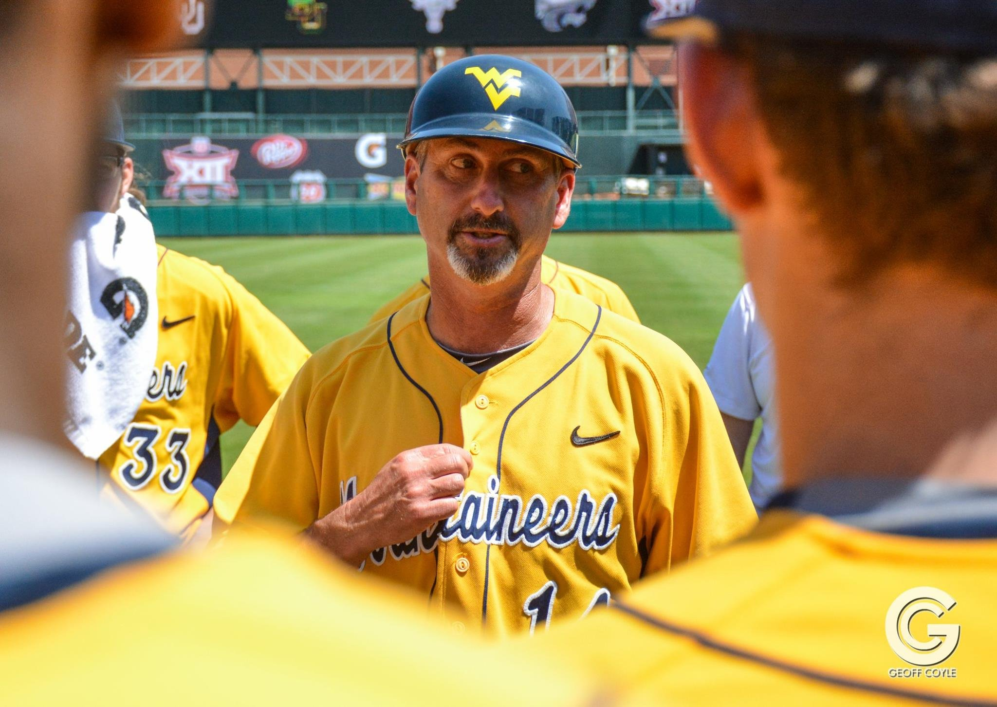 Randy Mazey and the Mountaineers have won each of their first three Big 12 series. (PHOTO: Geoff Coyle)