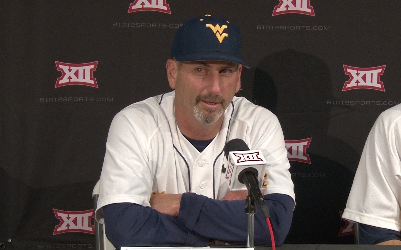 Coach Mazey speaks with the media following Wednesday's victory.