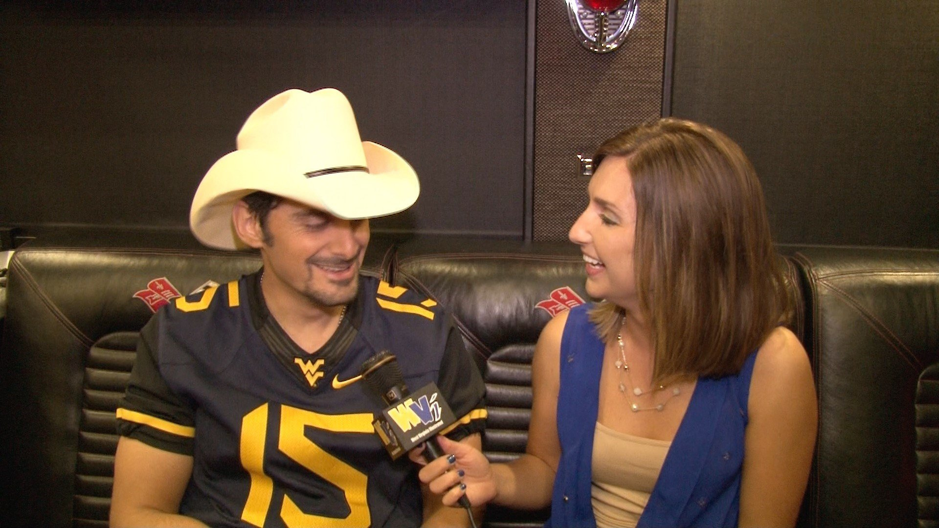 Brad Paisley and I talking all things West Virginia.