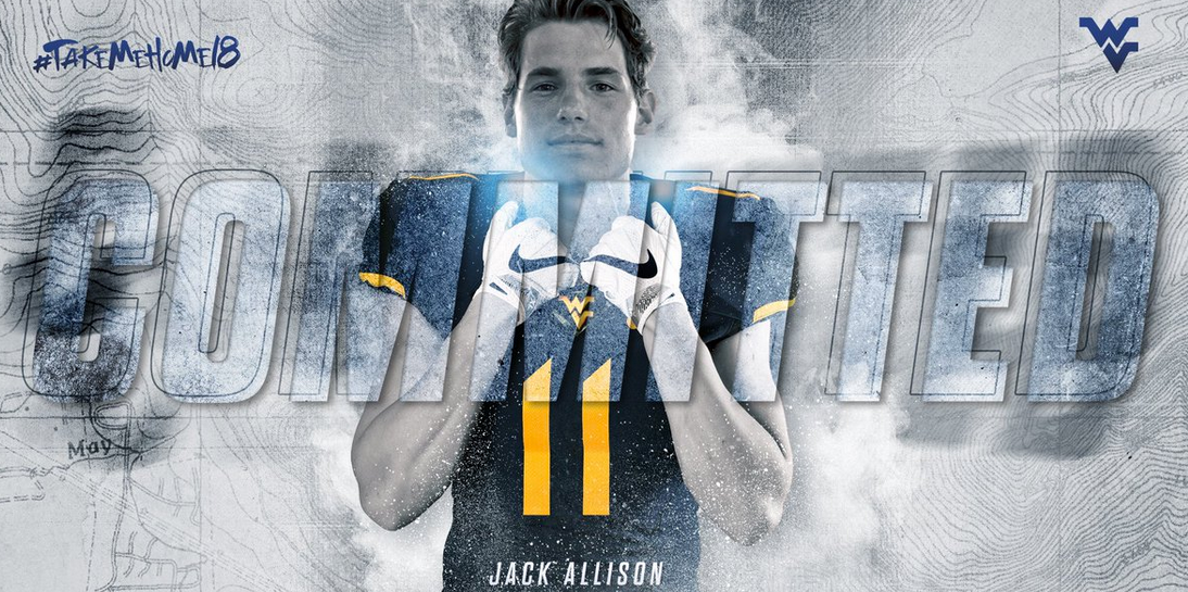Former Miami quarterback Jack Allison tweeted this picture on Tuesday to officially announce he will be joining the Mountaineers. (Twitter: Jack Allison)