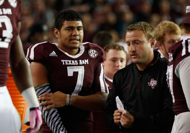 Kenny Hill and Jake Spavital worked together at Texas A&M in 2013 and 2014. (PHOTO: Getty Images)