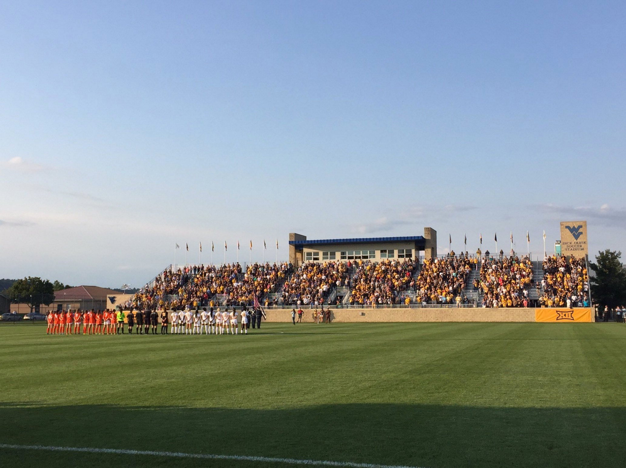 More than 2,400 fans came out to see the No. 1 WVU women's soccer team open the 2017 season.