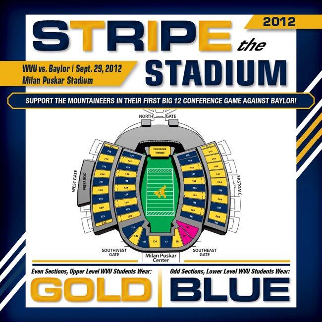 Stadium Striping, Gold Rush Welcome WVU to Big 12 - WVU ...
