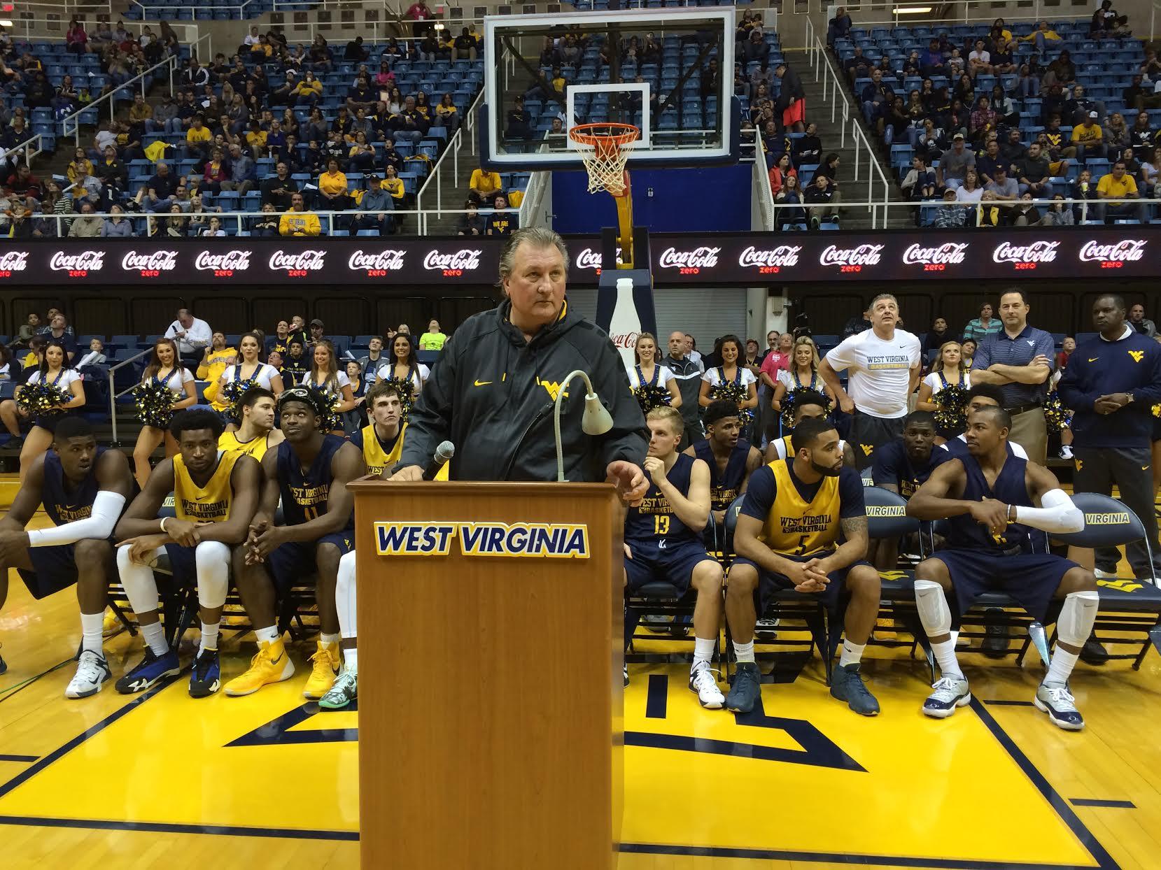 West Virginia University basketball coach Bob Huggins has announced ...